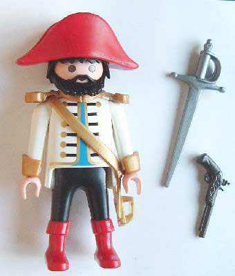 Playmobil 0000v2-ger - Pirate captain - Nordsee - Back