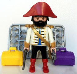 Playmobil 0000v2-ger - Pirate captain - Nordsee - Box