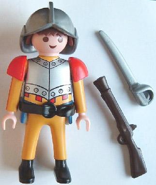 Playmobil 0000v3-ger -  Spanish soldier - Nordsee - Back