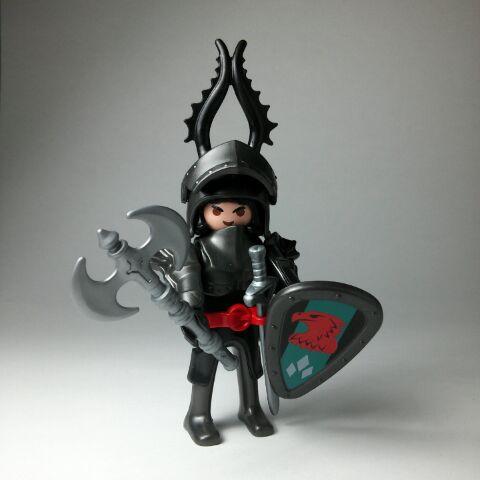 Playmobil R002-30792583-esp - Dark knight - Back