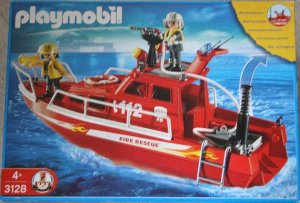 Playmobil 3128s3 - Fire Rescue Boat with Pump - Box
