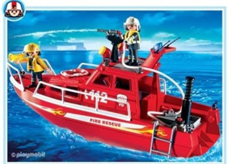 Playmobil - 3128s3 - Fire Rescue Boat with Pump