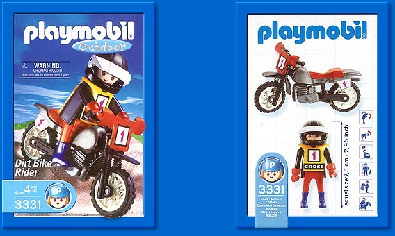 Playmobil 3331-usa - Dirt Bike Rider - Back