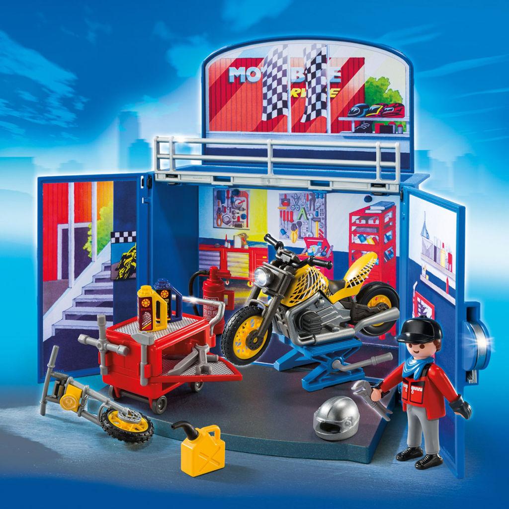 Playmobil Garage Set 28 Images Playmobil Set 6157 Motorbike Garage Klickypedia Playmobil