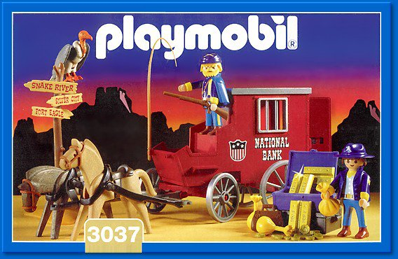 Playmobil 3037 - Gold Transport - Box
