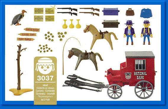 Playmobil 3037 - Gold Transport - Back