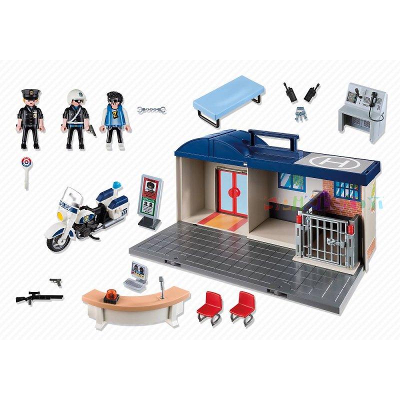 Playmobil 5299-ger - Take Along Police Station - Back