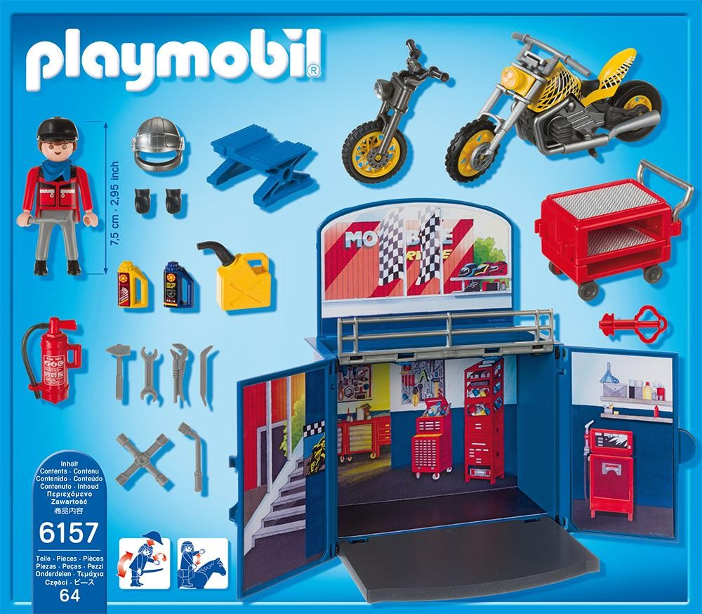 Playmobil Set 6157 Motorbike Garage Klickypedia