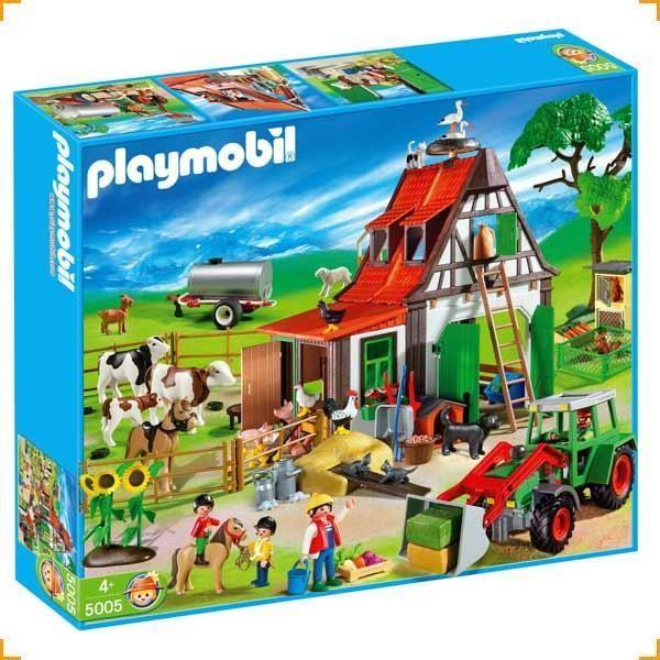 Playmobil set 5005 farm mega set klickypedia for La granja de playmobil precio