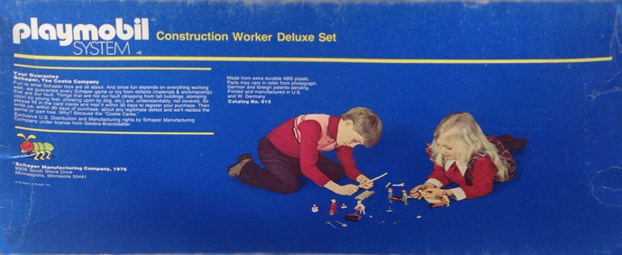 Playmobil 015-sch - Construction Worker Deluxe Set - Box