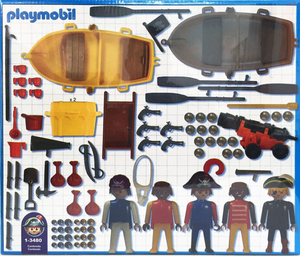 Playmobil 1-3480-ant - Pirate Set - Back