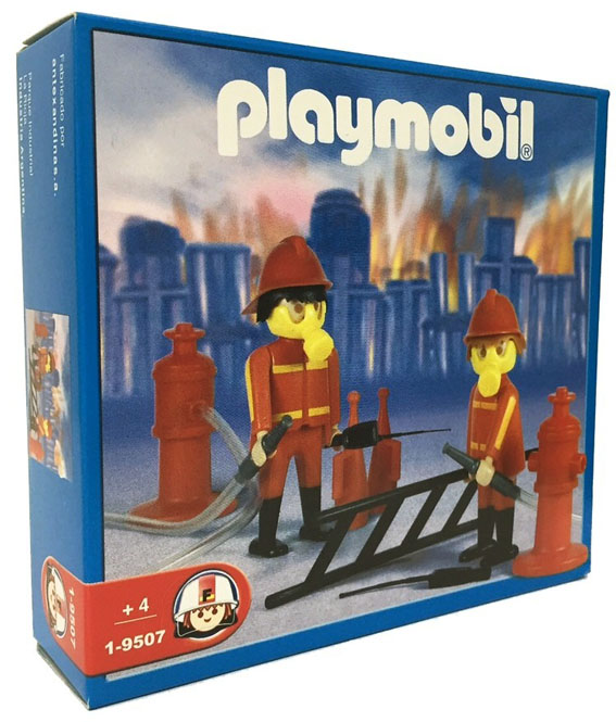 Playmobil 1-9507-ant - 2 firemen - Box