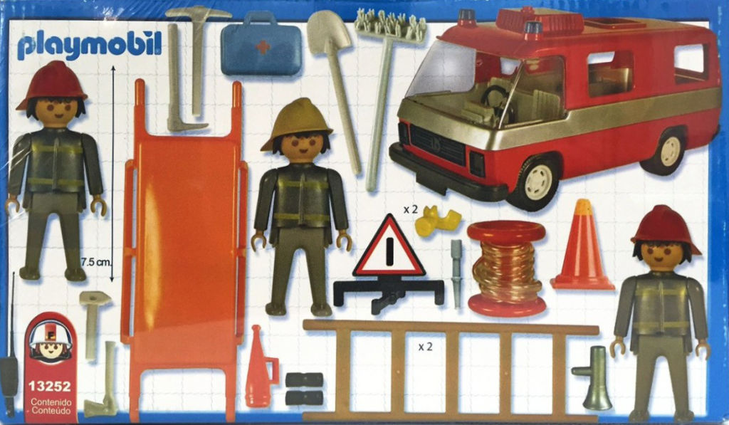 Playmobil 13252-ant - Firemen and truck - Back
