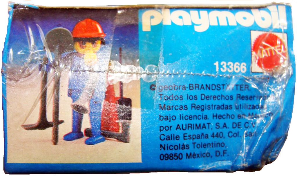 Playmobil 13366-xat - fireman - Back