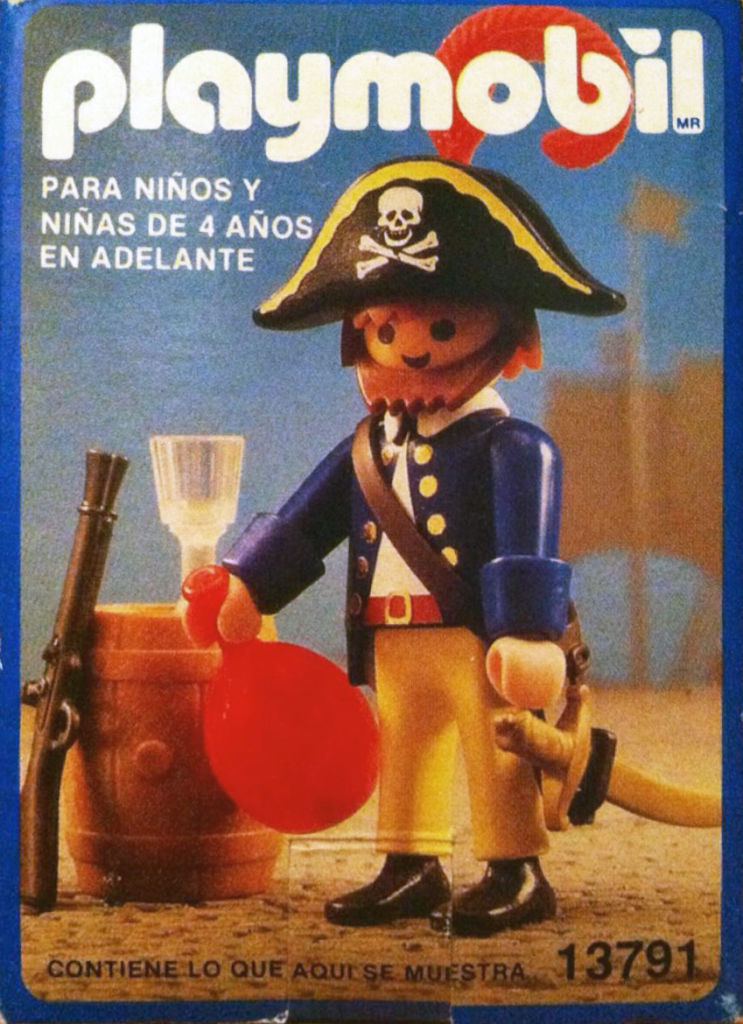 Playmobil 13791-aur - pirate with barrel - Back