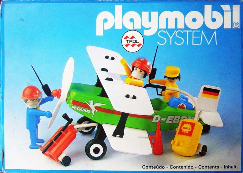 Playmobil 23.24.6-trol - Biplane Pegasus - Box