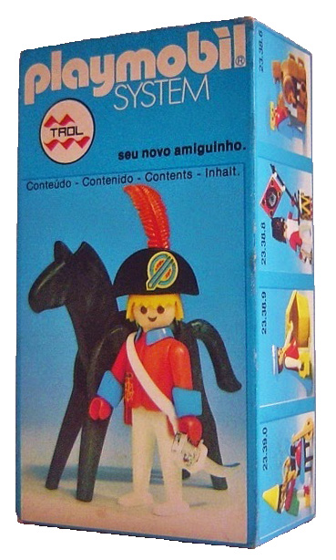Playmobil 23.38.7-trol - redcoat officer / horse - Box