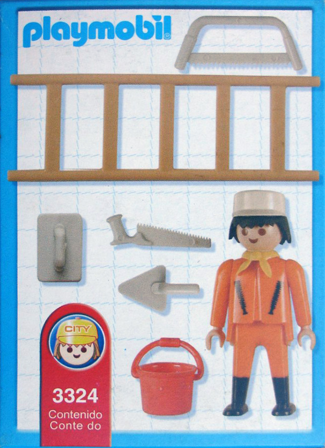 Playmobil 3324s2-ant - Construction worker - Back
