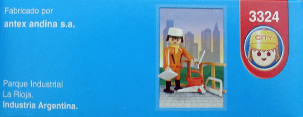 Playmobil 3324s2-ant - Construction worker - Box