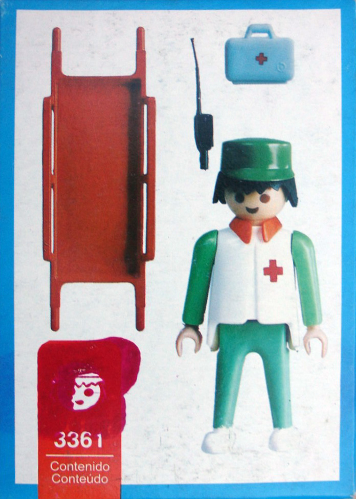 Playmobil 3361-ant - Nurse / stretcher - Back