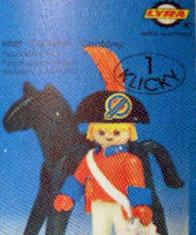 Playmobil - 3387-lyr - redcoat officer / horse