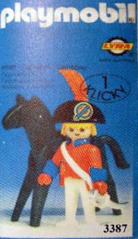Playmobil 3387-lyr - redcoat officer / horse - Box