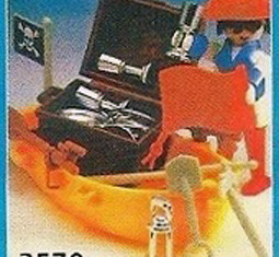Playmobil - 3570v3-ant - pirate/rowboat