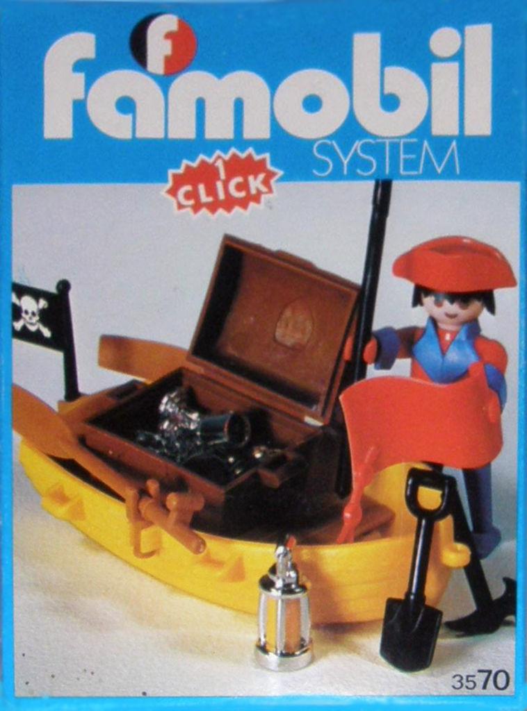 Playmobil 3570-fam - pirate / rowboat - Box