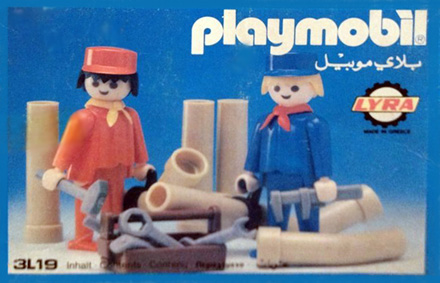 Playmobil 3L19-lyr - construction workers - Box