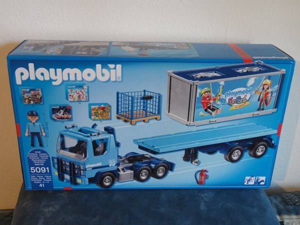 Playmobil 5091-ger - Container Truck 2015 - 15 Anniversary FunPark - Back