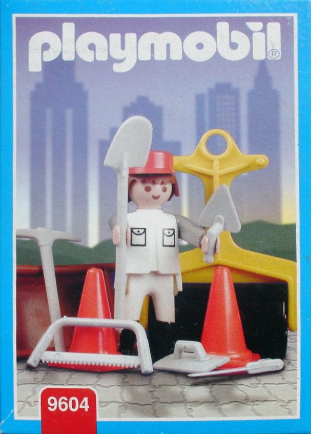 Playmobil 9604-ant - white road worker - Box