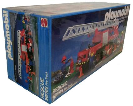 Playmobil 9752-mat - fire truck - Back