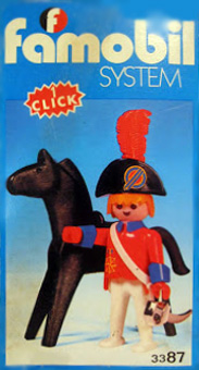 Playmobil 3387-fam - redcoat officer / horse - Back