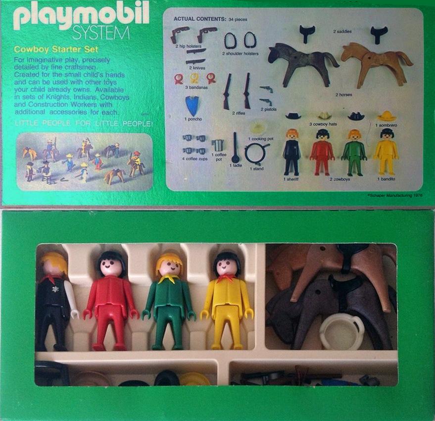 Playmobil 041-sch - Cowboy Starter Set - Back