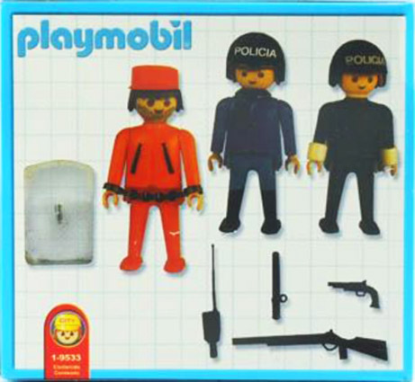 Playmobil 1-9533-ant - policemen and prisoner - Back