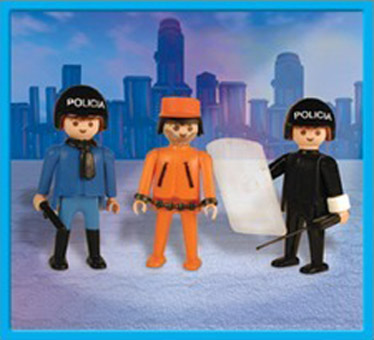 Playmobil 1-9533-ant - policemen and prisoner - Box