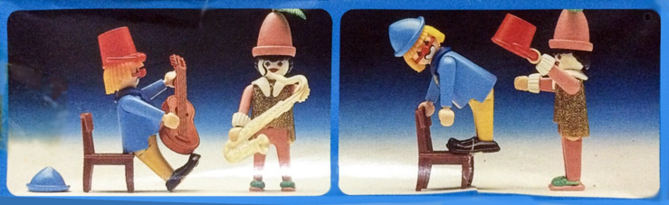 Playmobil 30.16.04-est - 2 clowns - Back