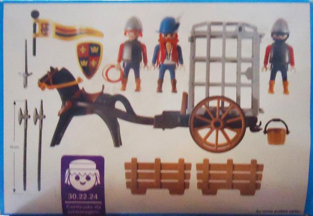 Playmobil 30.22.24-est - Knights Prison Cart - Back