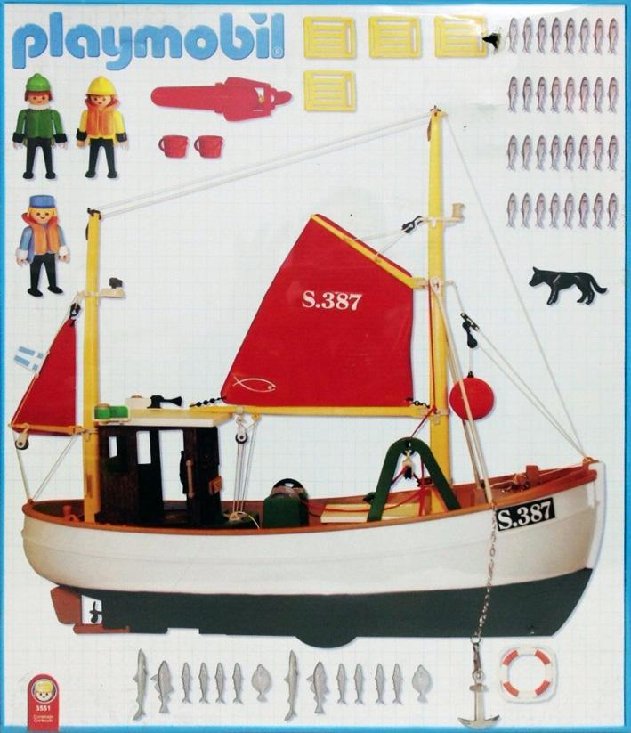 Playmobil 3551-ant - Fishing Boat - Back