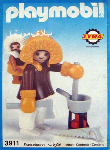 Playmobil 3911-lyr - Eskimo Mother and Baby - Box