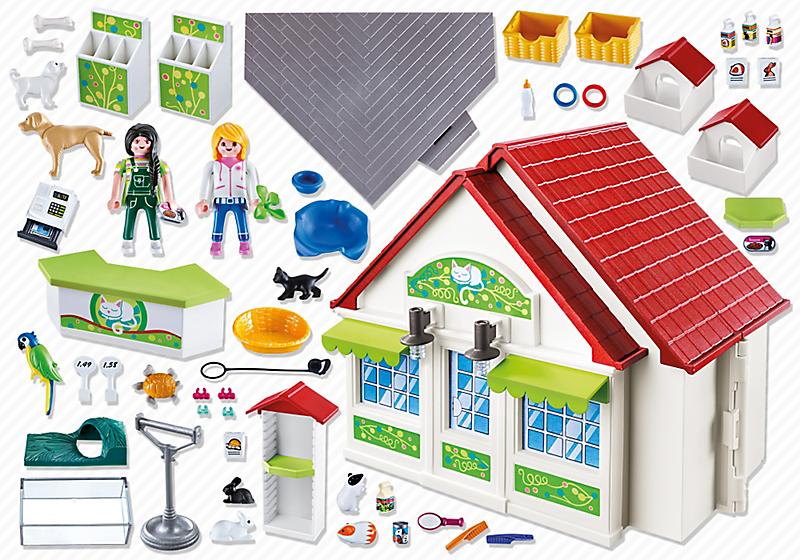 Playmobil 5633-usa - Take Along Pet Store - Back
