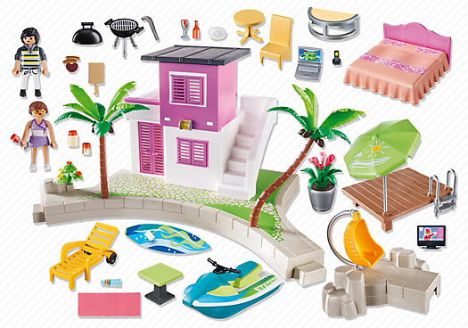 Playmobil 5636-usa - Luxury Beach House - Back