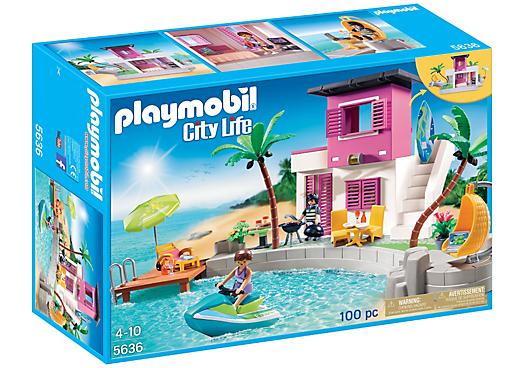 Playmobil set 5636 usa luxury beach house klickypedia for Modernes haus playmobil