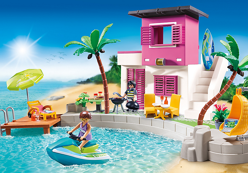 Playmobil Set 5636 Usa Luxury Beach House Klickypedia