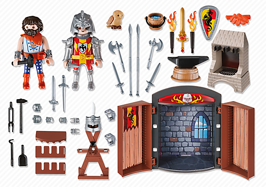 Playmobil 5637-usa - Knights' Armory Play Box - Back
