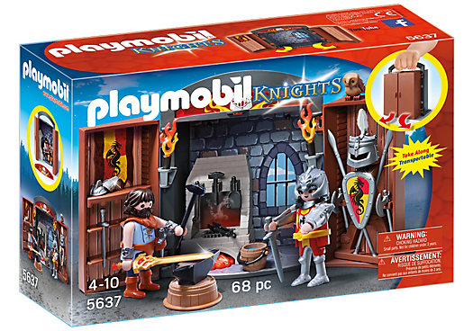 Playmobil 5637-usa - Knights' Armory Play Box - Box