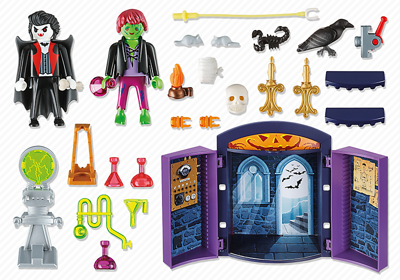 Playmobil 5638-usa - Play Box Haunted House - Back