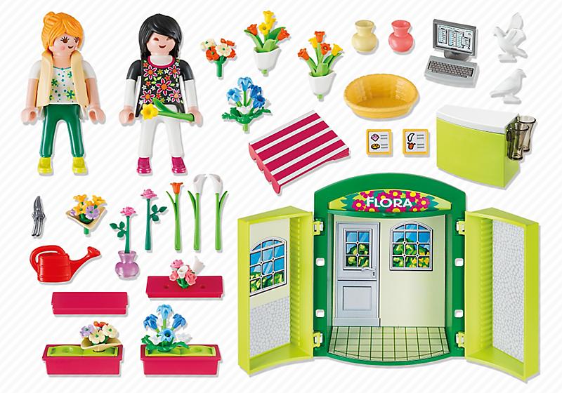Playmobil 5639-usa - Play Box Flower Shop - Back