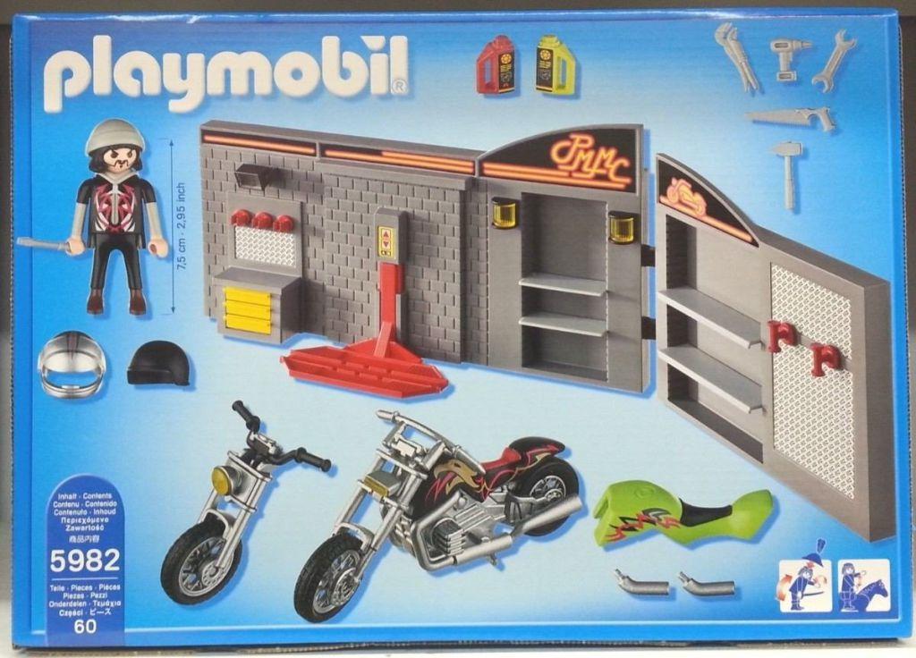 Playmobil Set 5982 Motorcycle Garage Klickypedia