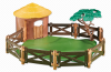 Playmobil - 6623 - Animal shelter with fence and meadow